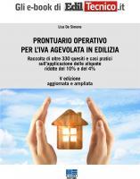 PRONTUARIO OPERATIVO PER L'IVA AGEVOLATA IN EDILIZIA